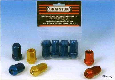 Grayston könnyűfém kerékanya M12x1.5 - nyitott (fekete)