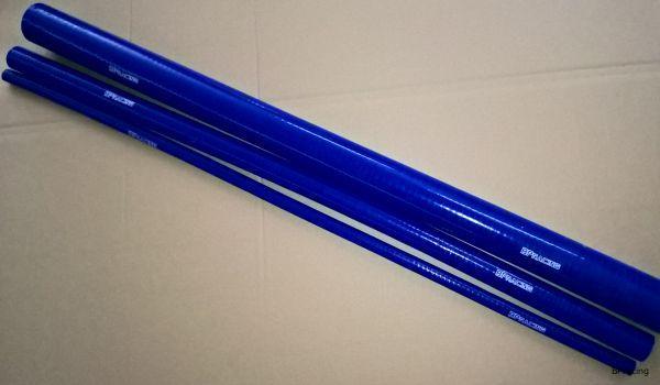 Egyenes szilikon cső 1 méter hosszú - 19 mm (kék)