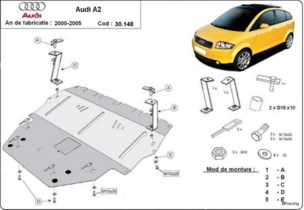 Audi A2 motorvédő lemez