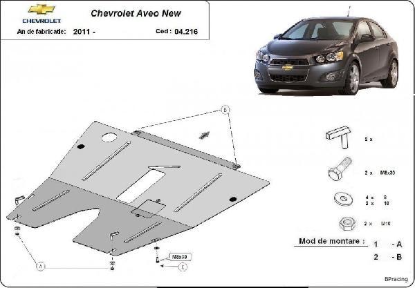Chevrolet Aveo 2011- motorvédő lemez