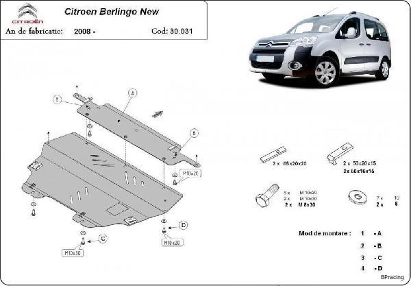 Citroen Berlingo 2008- motorvédő lemez - BPracing.hu - webáruház ... fe254f89a5