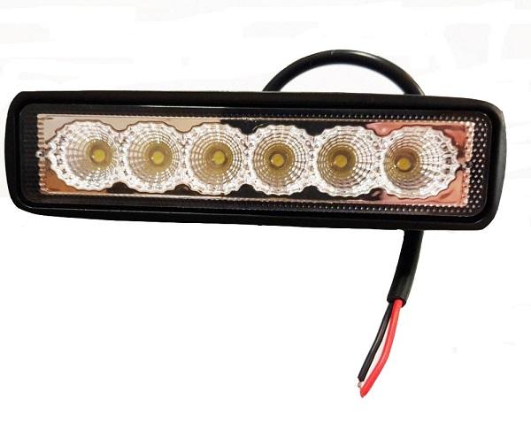 LED kiegészítő fényszóró, munkalámpa 18W