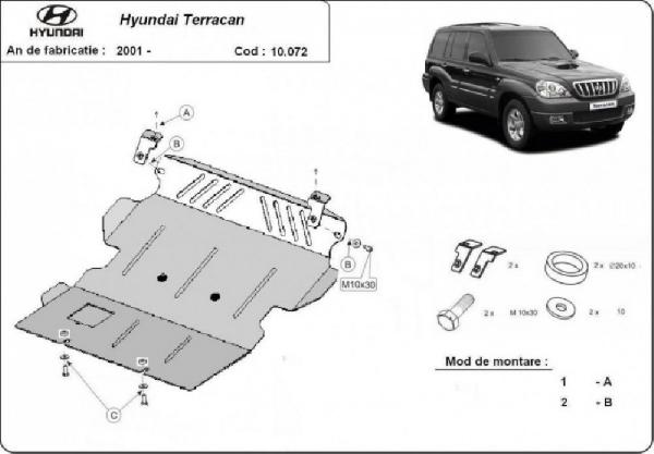 Hyundai Terracan 2001- motorvédő lemez