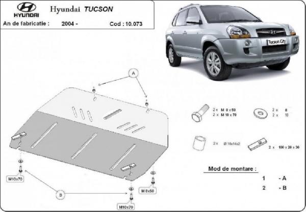 Hyundai Tucson 2004- motorvédő lemez