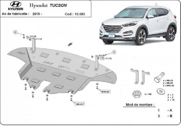 Hyundai Tucson 2015- motorvédő lemez