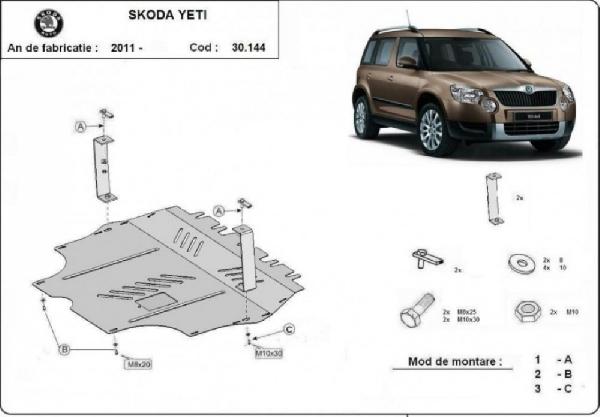 Skoda Yeti 2011- motorvédő lemez
