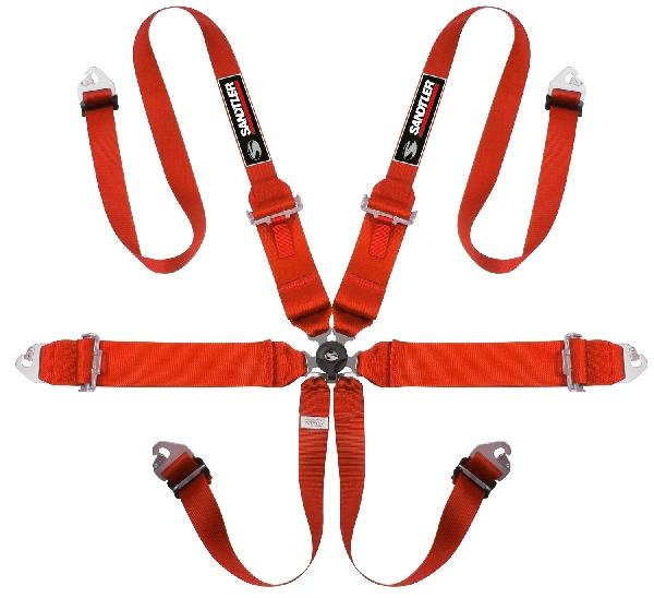 Sandtler TRS Magnum HANS homológ hatpontos biztonsági öv (piros)